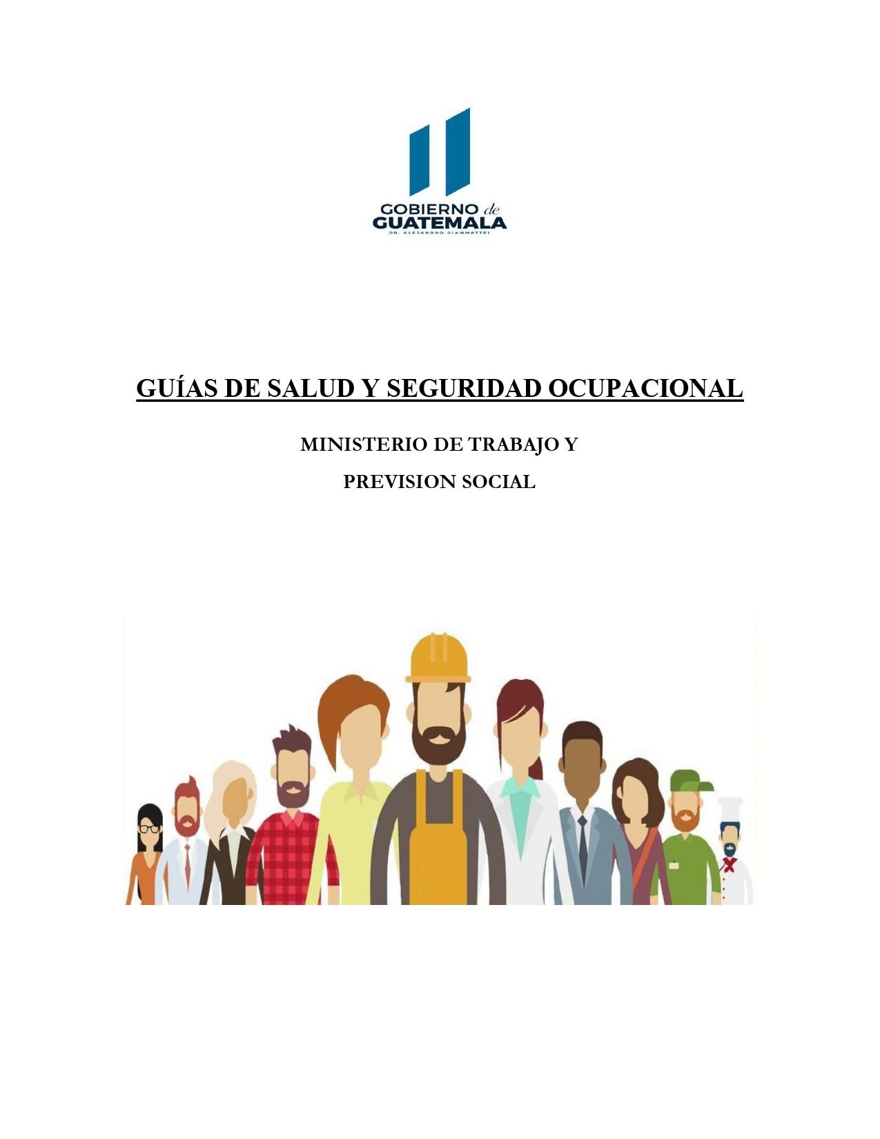 Guías de salud y seguridad ocupacional